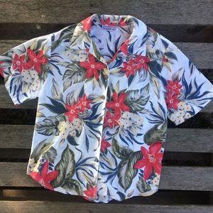 Vintage tropical Hawaiian style button down